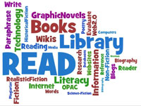 Library Media Word Cloud